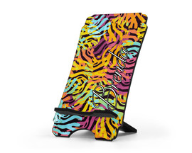 Personalized Cell Phone Stand Zebra Print