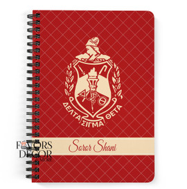 Personalized Delta Sigma Theta Shield Notebook