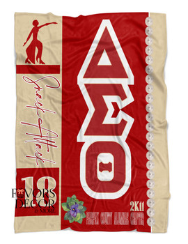 Personalized 22 Pearls Delta Sigma Theta Blanket