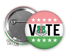 Alpha Kappa Alpha Vote Election Buttons