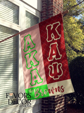 Alpha Kappa Alpha and Kappa Alpha Psi House Flag