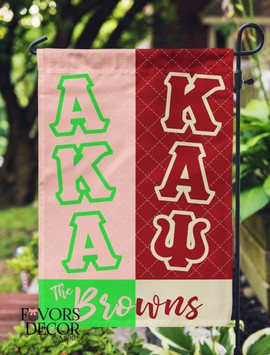 Alpha Kappa Alpha and Kappa Alpha Psi Garden Flag
