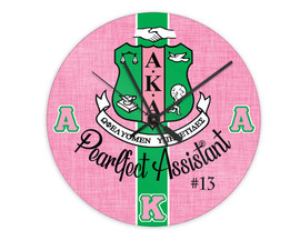 "Alpha Kappa Alpha 8"" Glass Clock"