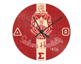"Delta Sigma Theta 8"" Glass Clock"
