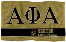 Alpha Phi Alpha Personalized Sports Towels
