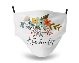 Country Flowers Personalized Face Mask