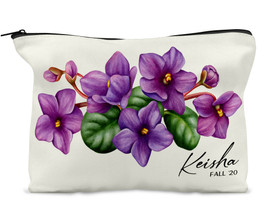 Delta Sigma Theta Violets Cosmetic Bag Personalized Gift