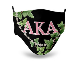 Alpha Kappa Alpha Face Mask - Greek Letters