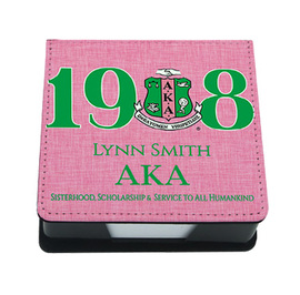 Alpha Kappa Alpha Personalized Sticky Note Holder Memo Tray