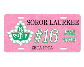 Alpha Kappa Alpha Chapter License Plate