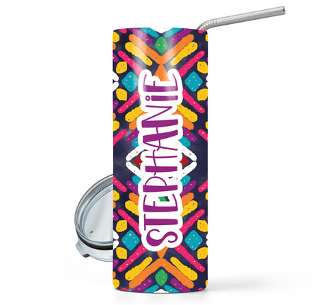 Mexican Abstract Print 20 oz Stainless Steel Skinny Tumbler