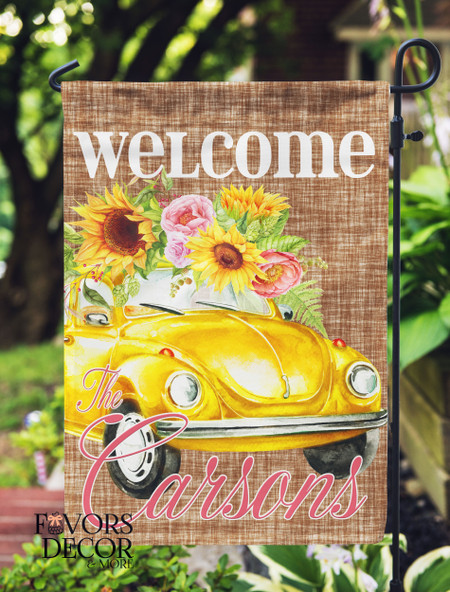 Love Bug Personalized Garden Flag