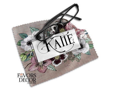 Personalized Glasses Microfiber Cleaning Cloth