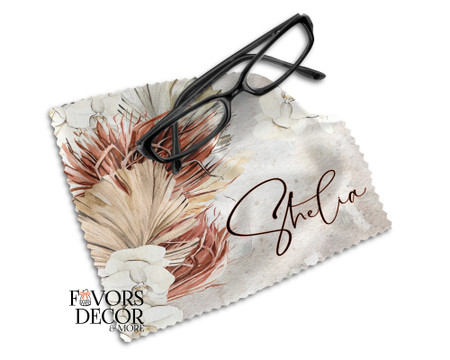 Custom Printed Earthy Chic Design Lens Cleaning Cloth
