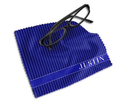 Blue Personalized Microfiber Cleaning Cloth for Glasses