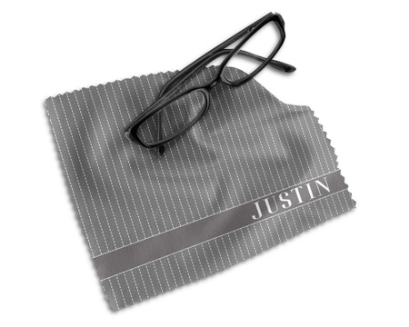 Vertical Lines Microfiber Glasses Cleaning Cloth