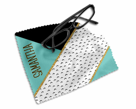 Personalized Glasses Microfiber Cleaning Cloth Chic Geometric Chic Pattern