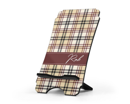 Personalized Cell Phone Stand for Men