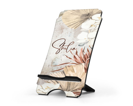 Earthy Chic Earth Tone Personalized Cell Phone Stand
