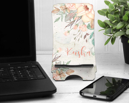 Boho Earth Tones Personalized Cell Phone Holder