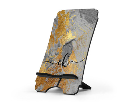Metallic Gold Paint Printed Personalized Cell Phone Stand