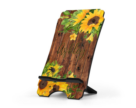 Sunflowers Personalized Phone Stand
