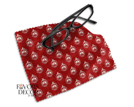 Delta Sigma Theta Red Microfiber Glasses Cleaning Cloth