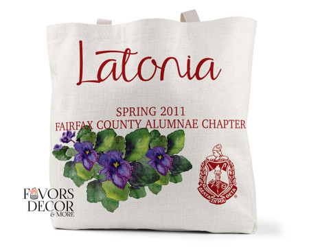 Personalized Delta Sigma Theta Tote Bag