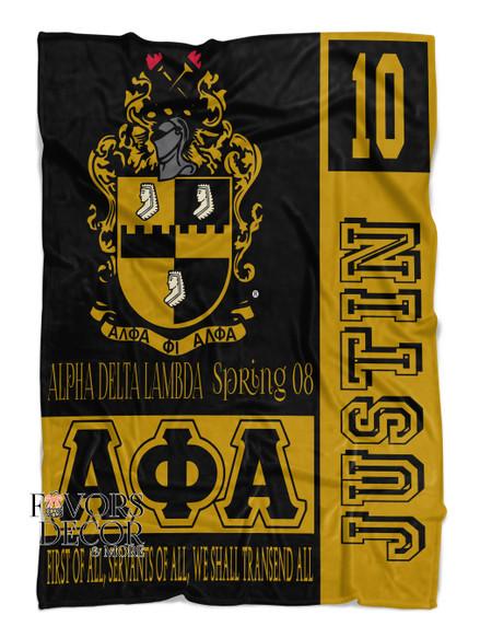 Alpha Phi Alpha Personalized Fleece Blanket