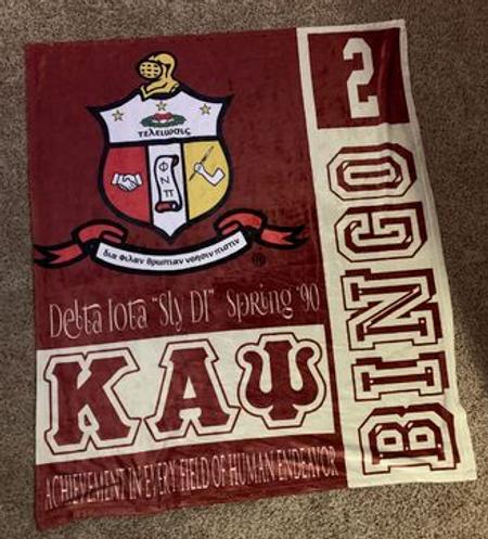 Kappa Alpha Psi Blanket Actual Image