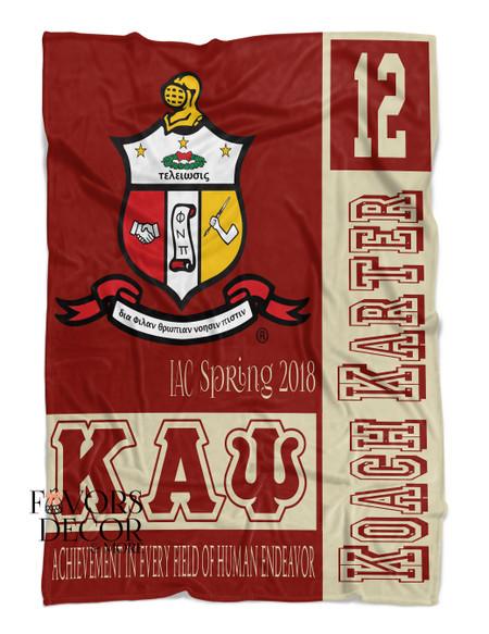 Kappa Alpha Psi Personalized Fleece Blanket