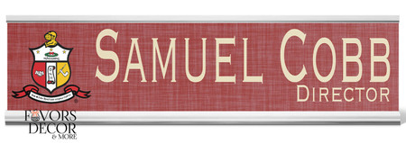 Kappa Alpha Psi Personalized Desk Nameplate