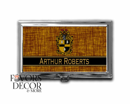 Personalized Alpha Phi Alpha Business Card Holder