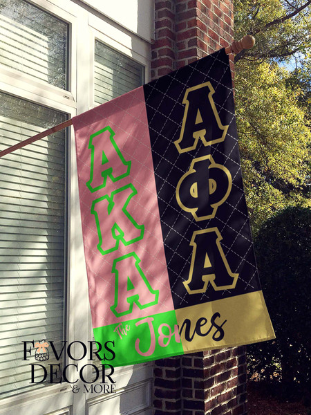 Alpha Phi Alpha and Alpha Kappa Alpha House Flag