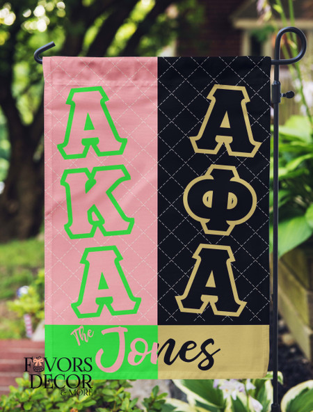 Alpha Phi Alpha and Alpha Kappa Alpha Garden Flag