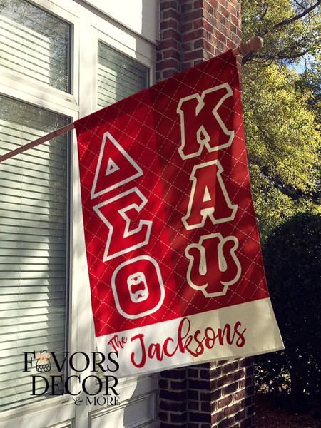 Kappa Alpha Psi and Delta Sigma Theta House Flag