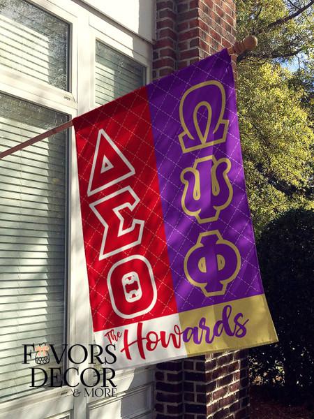 Omega Psi Phi and Delta Sigma ThetaHouse Flag