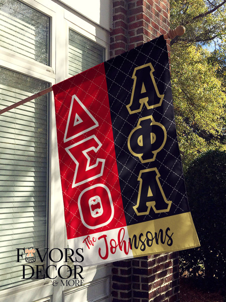 Alpha Phi Alpha and Delta Sigma Theta House Flag