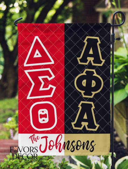 Alpha Phi Alpha and Delta Sigma Theta Garden Flag