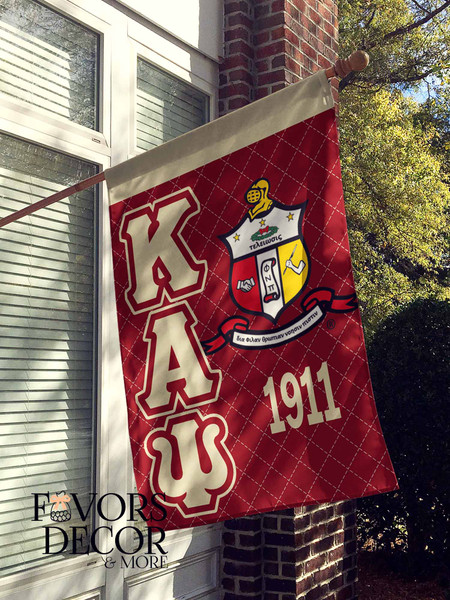 Kappa Alpha Psi Crimson and Cream House Flag