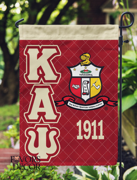 Kappa Alpha Psi Crimson and Cream Yard Flag