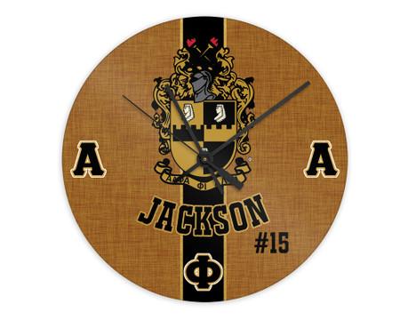 "Alpha Phi Alpha 8"" Glass Clock"