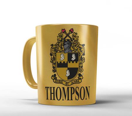 Gold Alpha Phi Alpha Personalized Mug