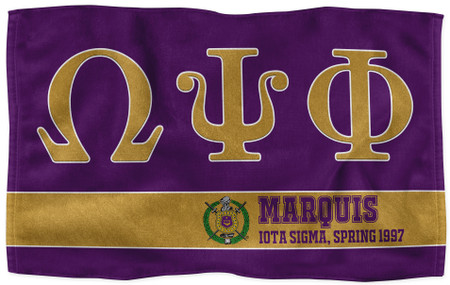 Omega Psi Phi Personalized Sports Towels