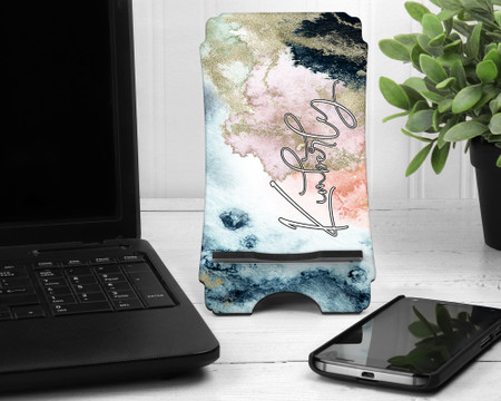 Personalized Cell Phone Marble Print