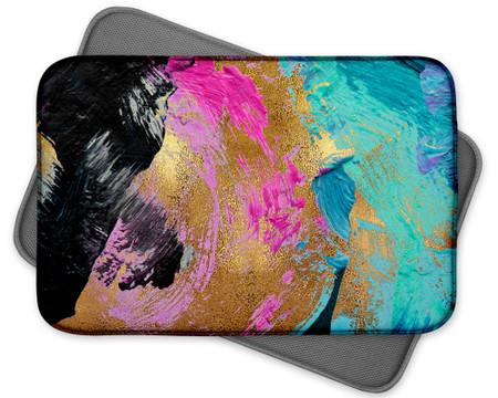 Abstract Art Custom Dish Drying Mat Pastel Colors