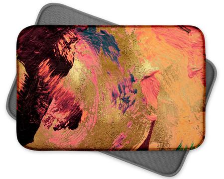 Abstract Paint Art Custom Dish mat - Orange