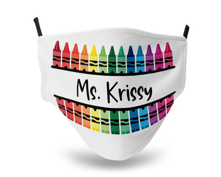 Personalized White Adjustable Crayon Face Mask