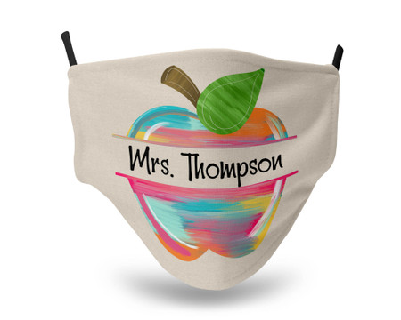 Teacher Apple Personalized Face Mask