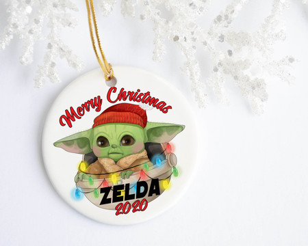 Baby Yoda Personalized Christmas Ornament, Favors, Decor & More